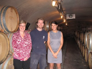 Lorie and I with Rene of Tawse Winery.