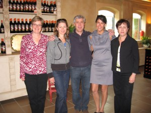 The three of us with Len and Marissa Crispino of Foreign Affair Winery.