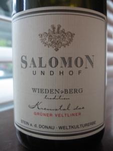 Salomon Undhof Wieden & Berg Gruner Veltliner 2009