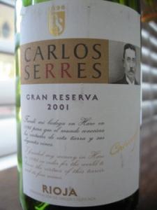 Carlos Serres Rioja Gran Reserva 2001