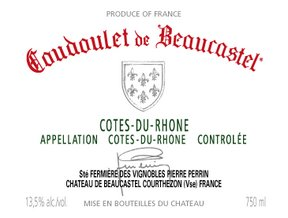 Coudoulet de Beaucastel Wine Label