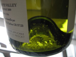 Tartrates in the Bachelder Oregon Chardonnay