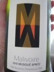 Malivoire 2010 Musque Spritz