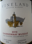 Vineland Estates 2010 Chardonnay Musque